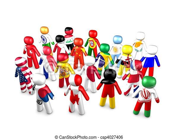 3d image, conceptual unite nations - csp4027406