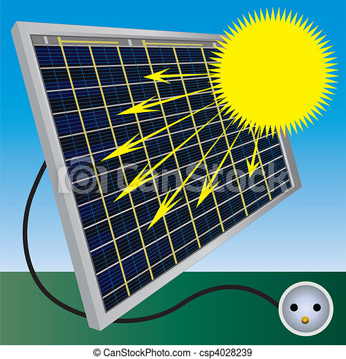 Solar battery process illustration - csp4028239
