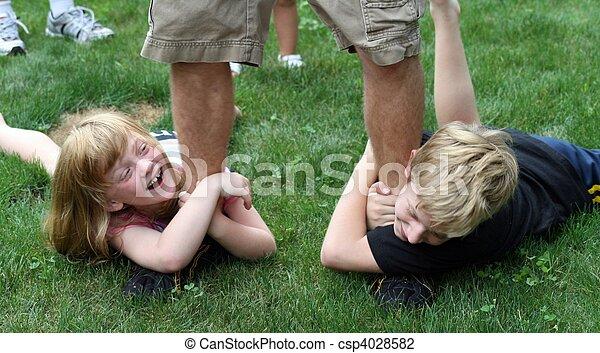 Boy Kids Feet Kids Dragging on Feet of Boy