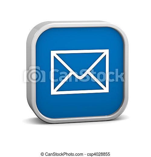 Dark Blue Mail Sign - csp4028855
