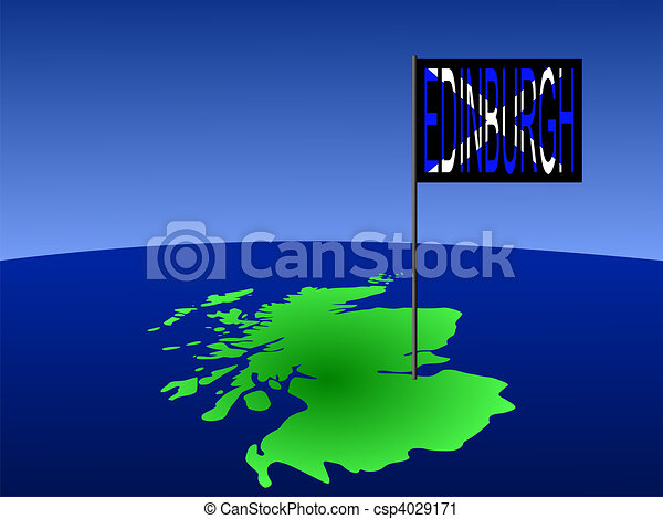 Edinburgh on Scotland map - csp4029171