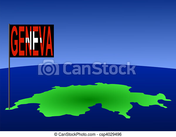 Geneva on Swiss map - csp4029496