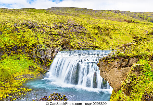 One of numerous waterfalls on the Skoga River - Iceland - csp40298899