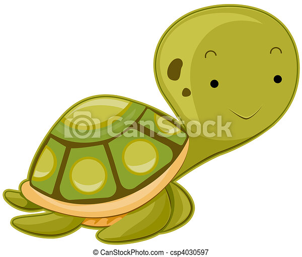 Stock Illustrations of Cute Sea Turtle csp4030597 Search EPS