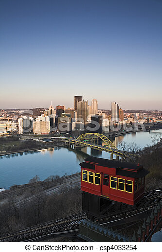 Trolley in Pittsburgh  - csp4033254