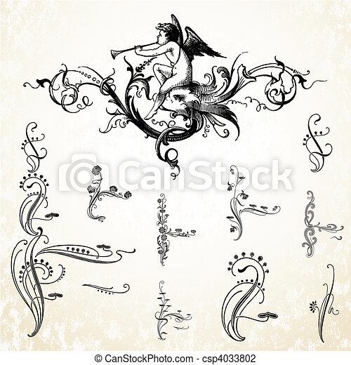 Vector Angel Ornaments - csp4033802