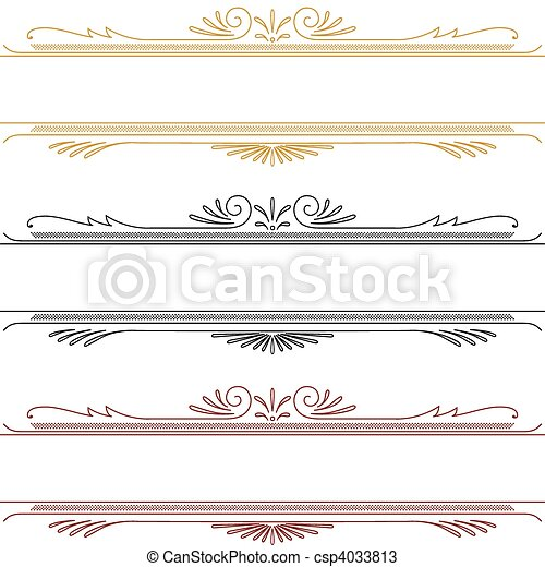 Vector Ornament Header Set - csp4033813