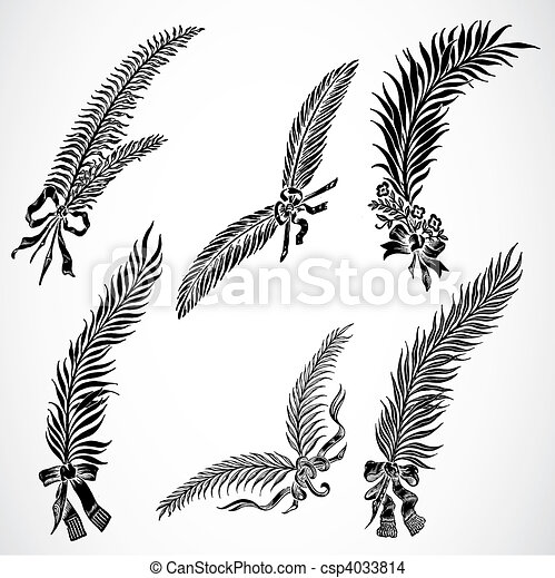 Vector Feather Set - csp4033814