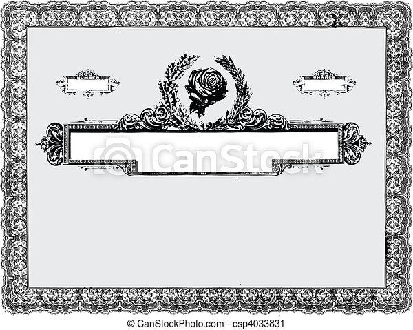 Vector Vintage Certificate Border - csp4033831