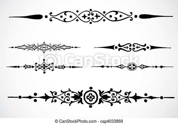 Vector Design Ornaments - csp4033869