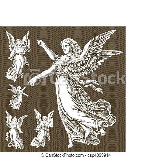 Vector White Angels - csp4033914
