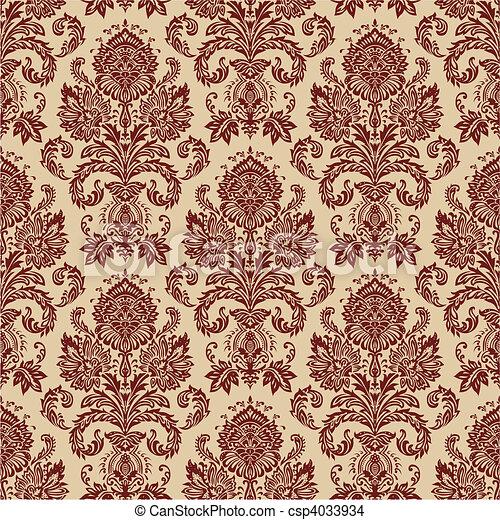 Vector Damask Pattern - csp4033934