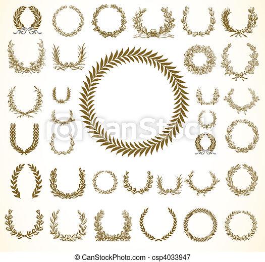 Vector Laural Wreaths - csp4033947
