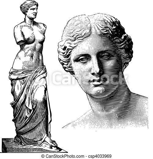 Vector Aphrodite Statue - csp4033969