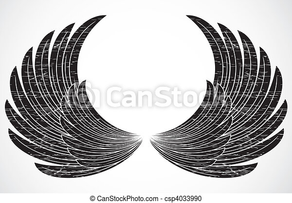 Vector Distressed Wings - csp4033990