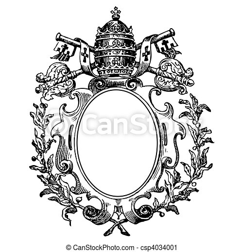 Vector Clip Art of Vector Medieval Crest - Detailed illustration ...
