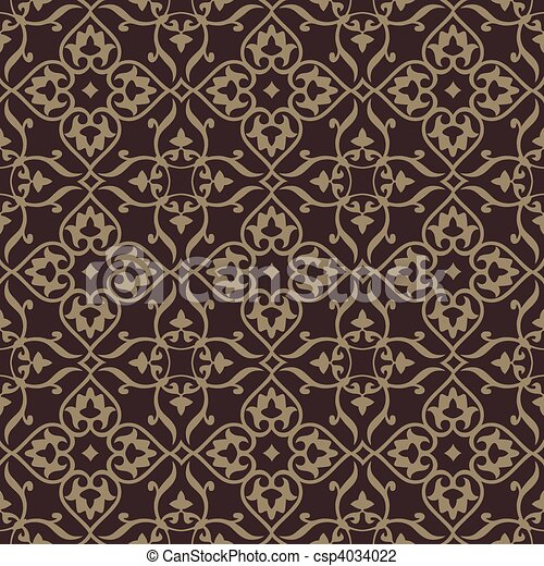 Repeating vector background pattern. The pattern is included as a seamless swatch. Very easy to edit. - csp4034022