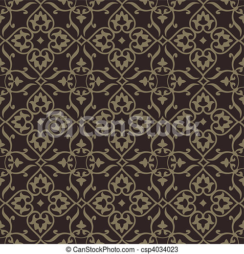Repeating vector background pattern. The pattern is included as a seamless swatch. Very easy to edit. - csp4034023