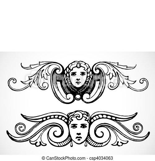 Vector Angel Ornaments - csp4034063