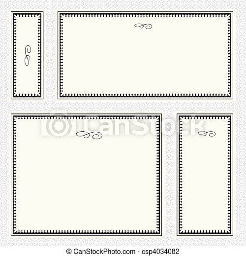 Vector Border Frame Set - csp4034082