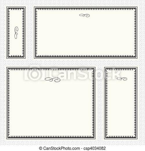 Vector Border Frame Set - csp4034082