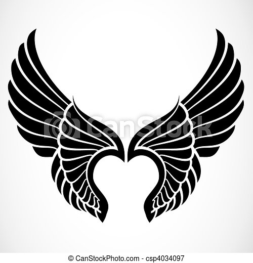 Vector Wings - Set of  Eagle Wings Silhouette
