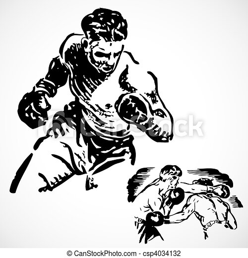 Vector Vintage Boxing Graphics - csp4034132