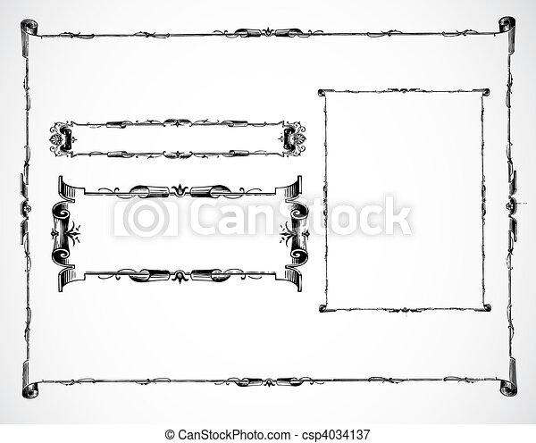 Vector Scroll Set - csp4034137