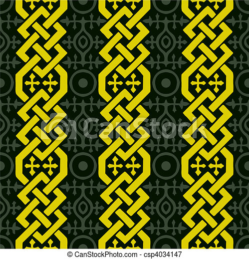 Vector Seamless Celtic Pattern - csp4034147