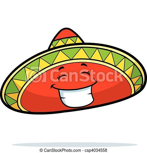 Sombrero Smiling - csp4034558