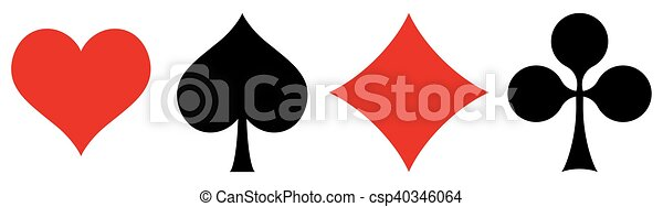 playing cards symbols - csp40346064