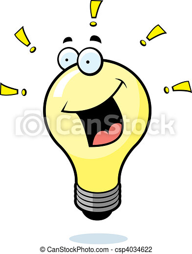 Light Bulb Smiling - csp4034622