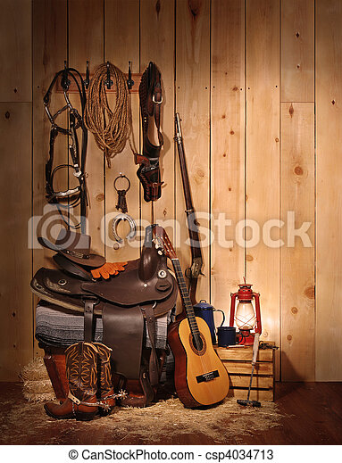 Cowboy Still LIfe - csp4034713