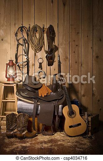 Cowboy Still life - csp4034716