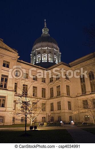 狀態, 亞特蘭大, -, 佐治亞, 州議會大廈 - csp4034991