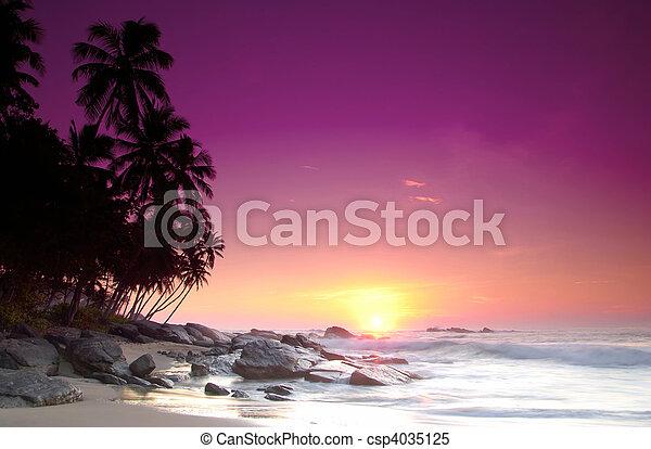 Sunrise on Sri Lanka - csp4035125