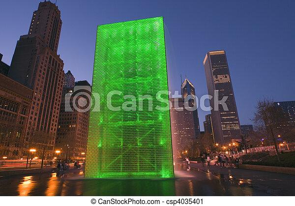 Millenium Park, Chicago - csp4035401