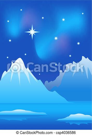 Arctic landscape - csp4036586