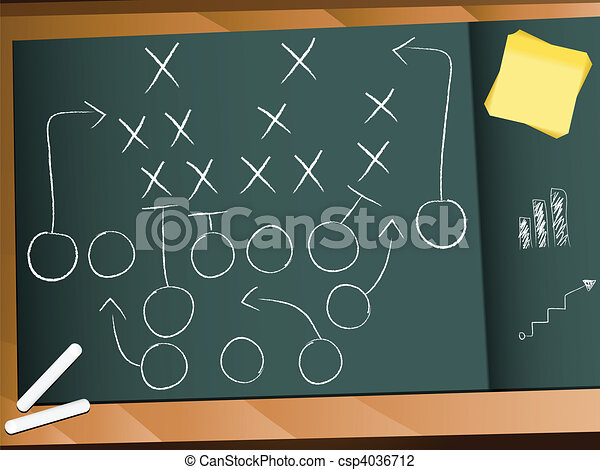 Teamwork Football Game Plan Strategy - csp4036712