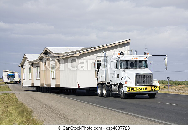 Transporting portable homes - csp4037728