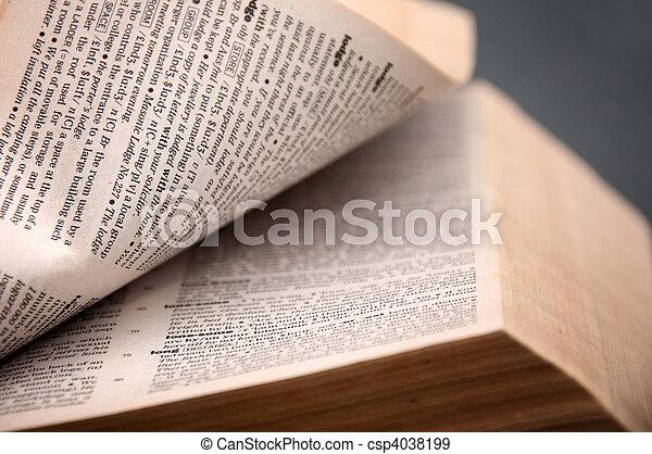 Open book - csp4038199