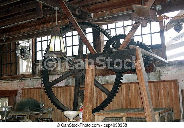 antiquité, intérieur, moulin, restauré - csp4038358