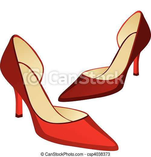 high heel pair of shoes - csp4038373