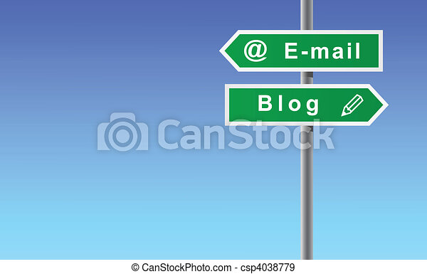 Arrows e-mail blog. - csp4038779