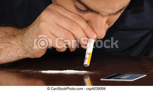 Doing cocaine - csp4039084
