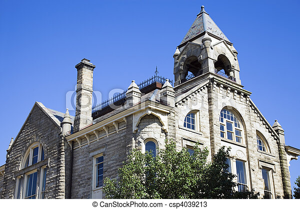 Historic City Hall in Amherst - csp4039213