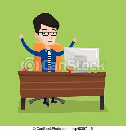 Successful business man vector illustration. - csp40397115
