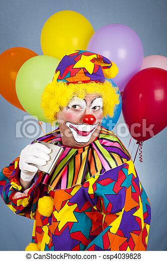 Alcoholic Clown - csp4039828
