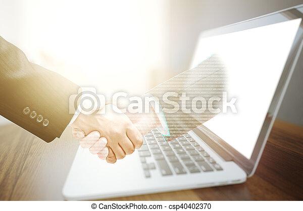 Online business concept - csp40402370