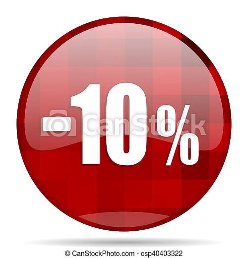 Stock Photo Of 10 Percent Sale Retail Red Round Circle
